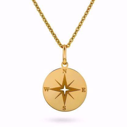 Smykke i gull - kompass -56609
