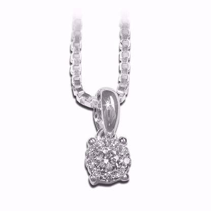 Diamantsmykke i gull med 0,08 ct-40705881855