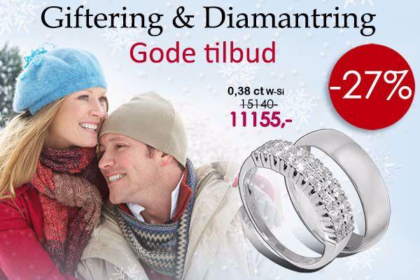 giftering og diamantring