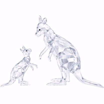 Swarovski figurer. Kangaroo Mother with Baby - 5428563