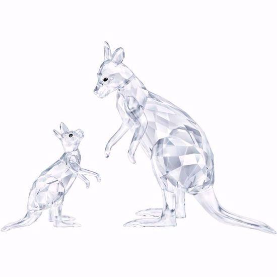 Swarovski figurer. Kangaroo Mother with Baby - 5428563