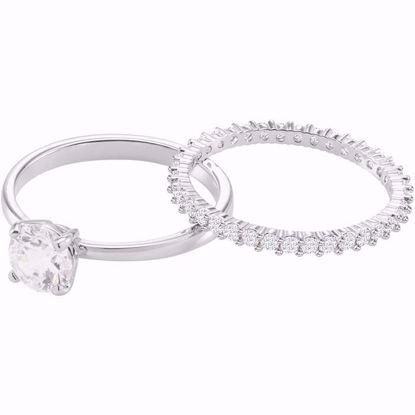 Swarovski ring. I Do Round Ring Set - 5408441
