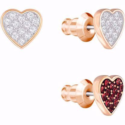 Swarovski øredobber. Crystal Wishes Heart - 5272369