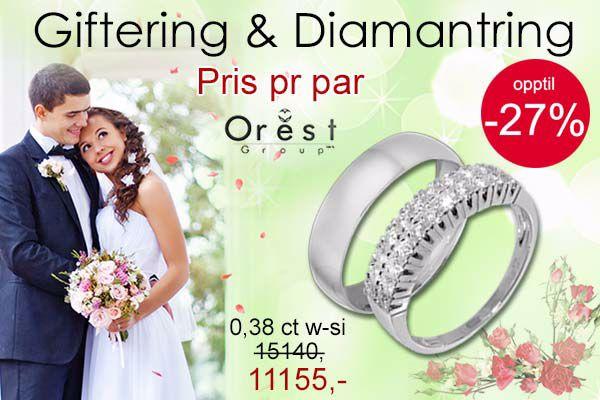 Diamantring og giftering