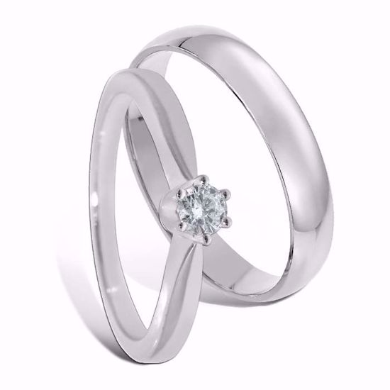 Giftering & diamantring 0,15 ct gull 14kt, 4 mm - 1340-COC00985