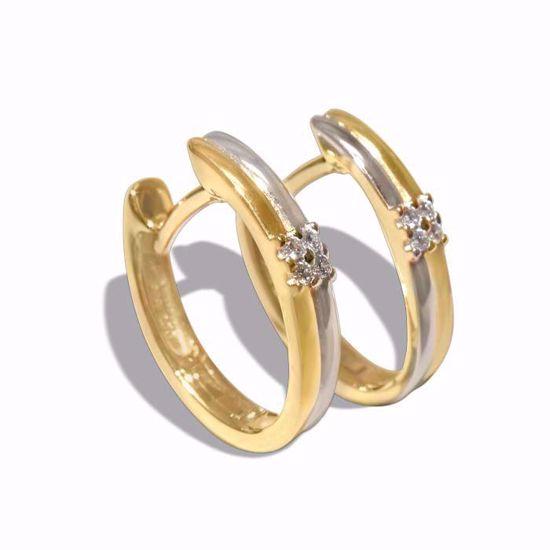 Diamant øredobber i gult & hvitt gull - 55293998