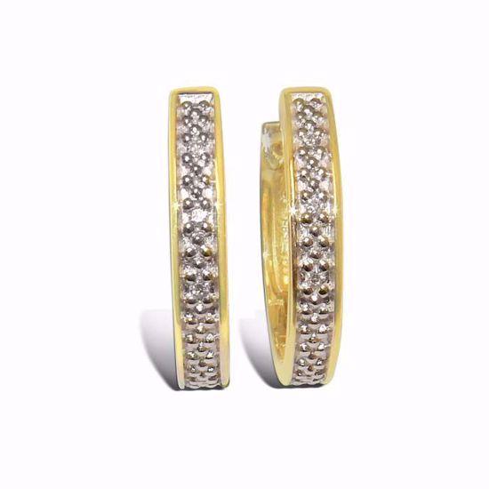 Diamant øredobber i gult & hvitt gull - 55293999