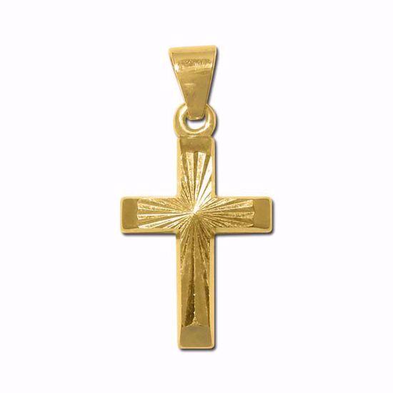 Kors i gult gull 14kt/585 -790141