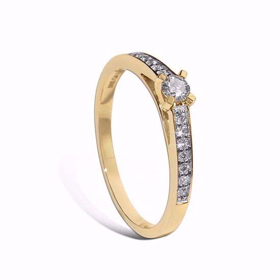 Diamantring i gult gull med 0,17 ct - COC017
