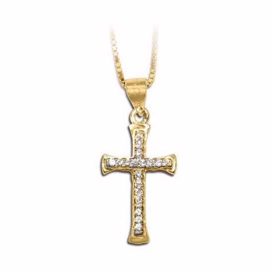 Kors i forgylt sølv med -790152