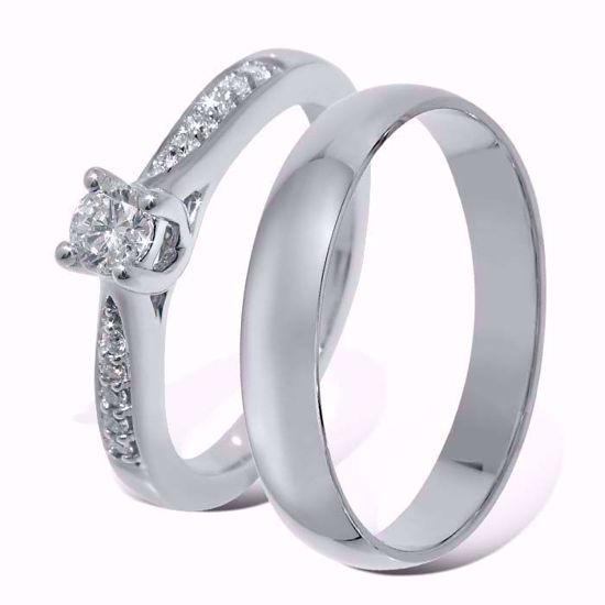 Giftering & diamantring 0,19 ct hvitt gull , 4 mm - ABR00874-1_1340