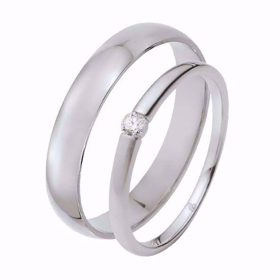 Giftering & diamantring 0,06 ct TW-Si i hvitt gull -5100027-1340
