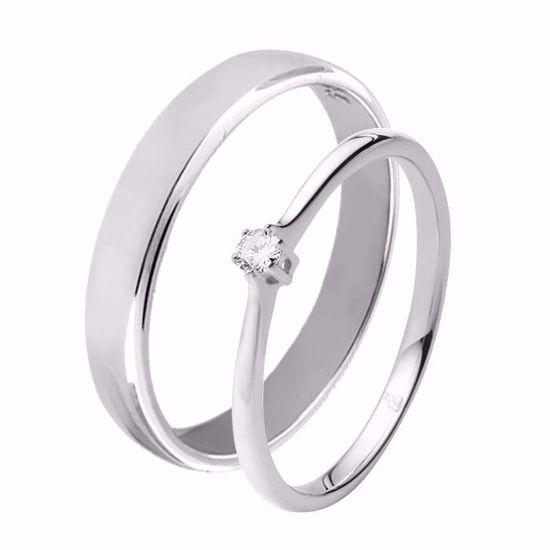 Giftering & diamantring 0,06 ct TW-Si i hvitt gull-5100012-11540