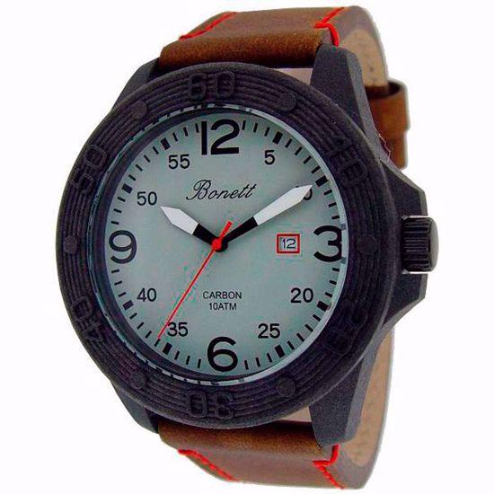 Bonett klokke Carbon - 1428S