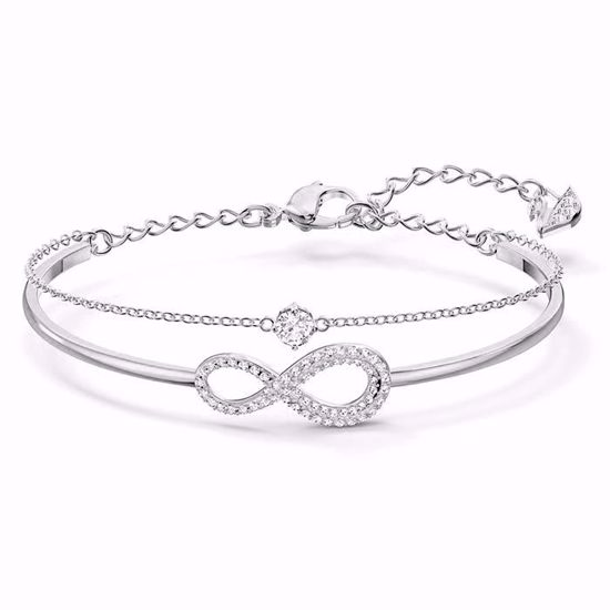 Swarovski armband Infinity Chain Crystal, blank | Krystallverden