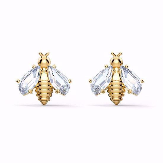 Swarovski øredobber Eternal Flower Bee, hvitt - 5518143