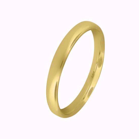 Giftering til herre i gult gull 14kt, 3 mm. OREST modell 803 - 803030
