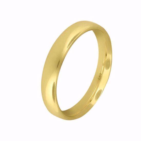 Giftering til herre i gult gull 14kt, 4 mm. OREST modell 803 - 803040