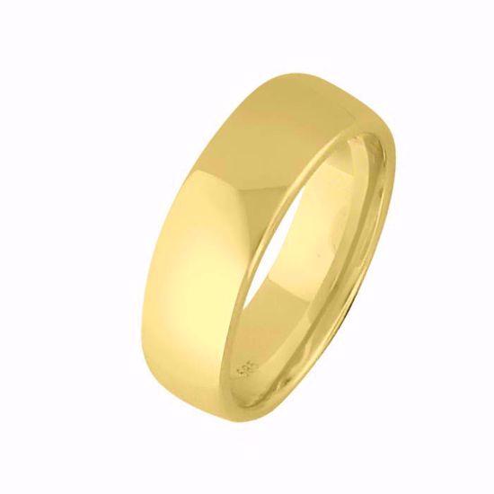Giftering til herre i gult gull 14kt, 6 mm. OREST modell 803 - 803060