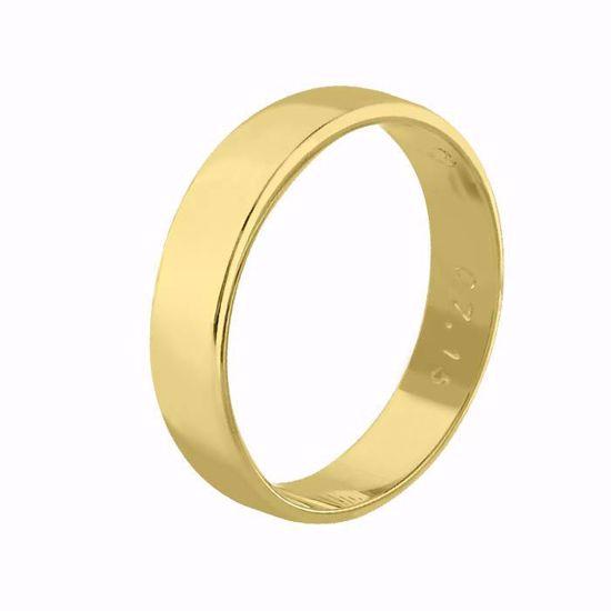 Giftering til herre i gult gull 14kt, 5 mm. OREST modell 115 - 115050