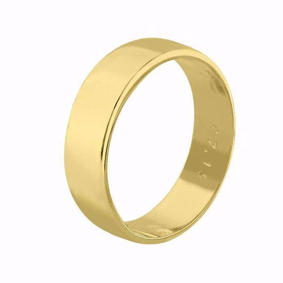 Giftering til herre i gult gull 14kt, 6 mm. OREST modell 115 - 115060