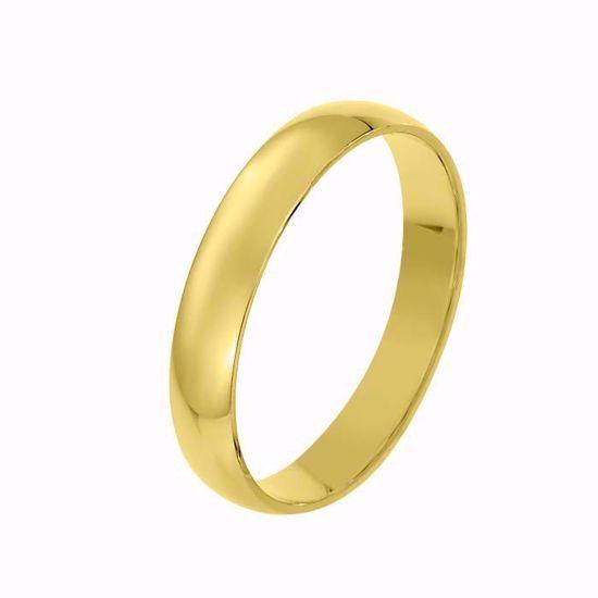 Giftering til herre i gult gull 14kt, 4 mm. OREST modell 167 - 167040
