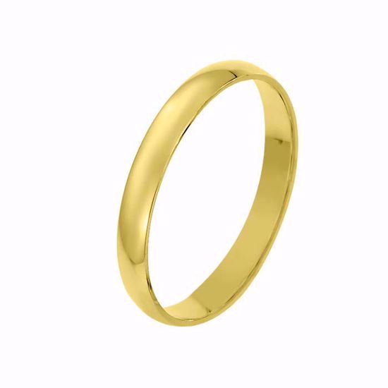 Giftering til herre i gult gull 14kt, 3 mm. OREST modell 167 - 167030