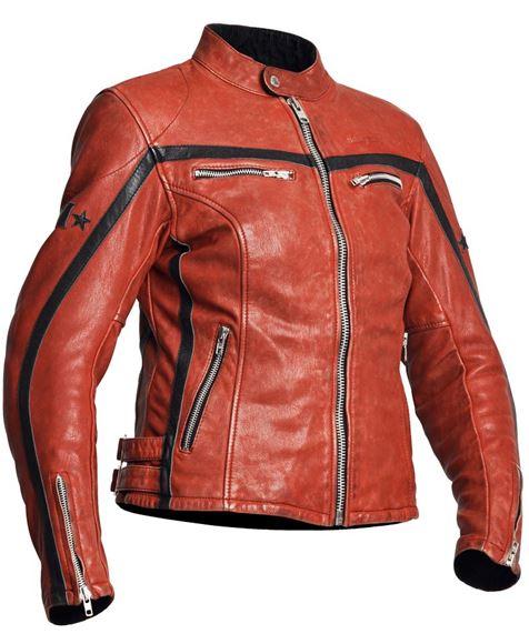 cd138ce7 SALG 310 Lady mc jakke skinn dame Halvarsson rød/svart x - Høy puls -  Hjelmer, Snøscooterklær, Snøscooterutstyr, Mc klær