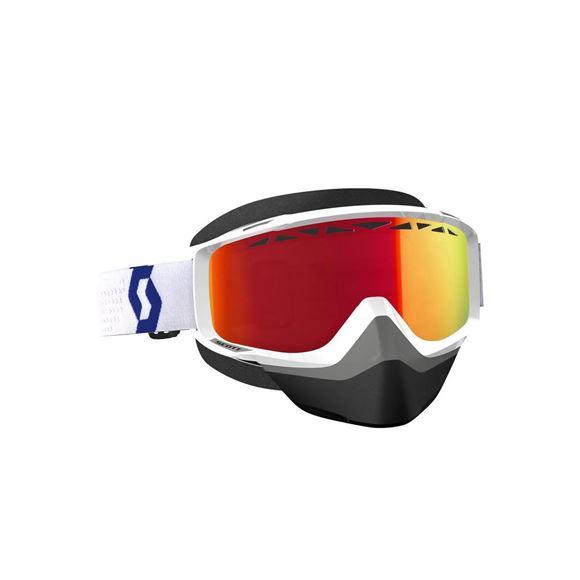 Bilde av Scott Split OTG SX tilpasset brillebrukere snøscooter - Hvit/Rød x