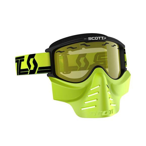 Bilde av Scott 83X Safari Facemask Goggle snøscooter gult glass - sort/gul x