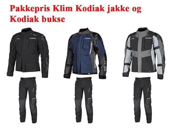 Pakkepris MC Klim Kodiak Jakke og Klim Kodiak bukse FRAKTFRITT z