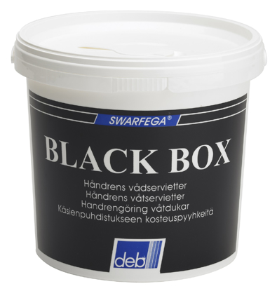 DEB VÅTSERVIETT BLACK BOX 150 ARK