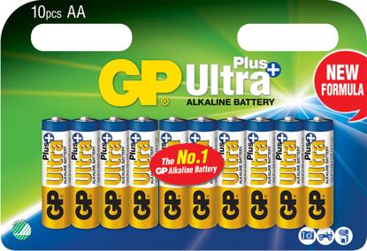 GP ULTRA+ BATTERI 1,5V AA LR06 10PK