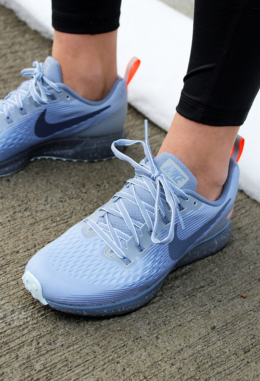 the best attitude d55af 775a6 Nike W AIR ZOOM PEGASUS 34 SHIELD WOLF GREY/THUNDER BLUE