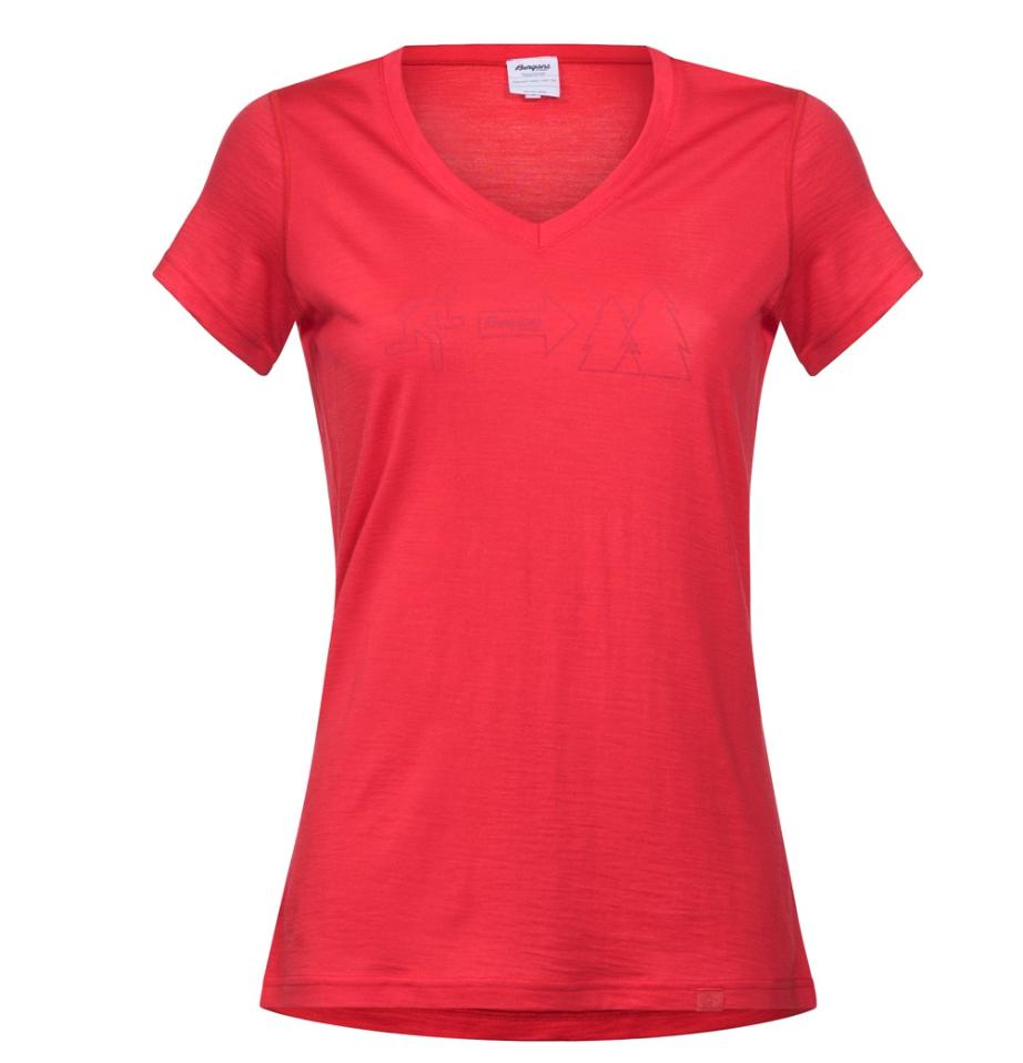 61531414 Bergans Exit Wool Lady Tee strawberry- Nava Sport - Vi selger klær ...