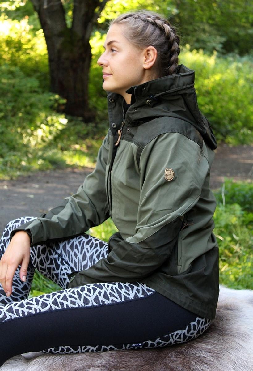 7e8cbe22f Fjällräven Keb Jacket W. deep forest-laurel green