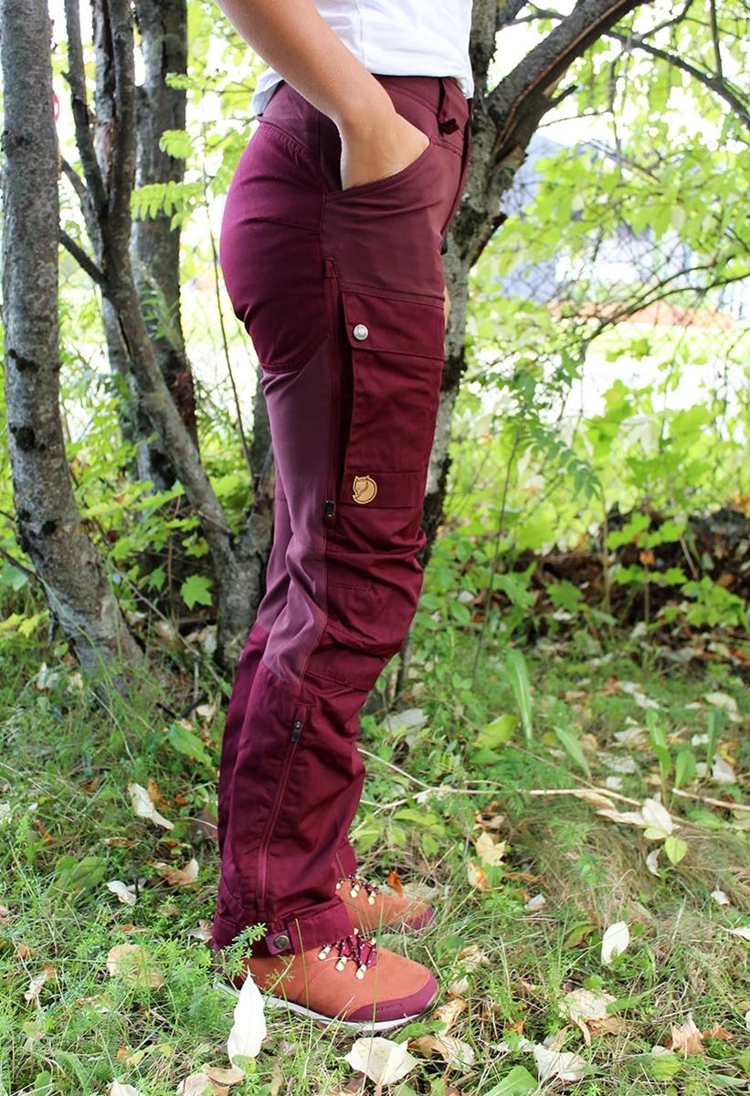 Bilde av Fjällräven  Keb Trousers Curved W dark garnet