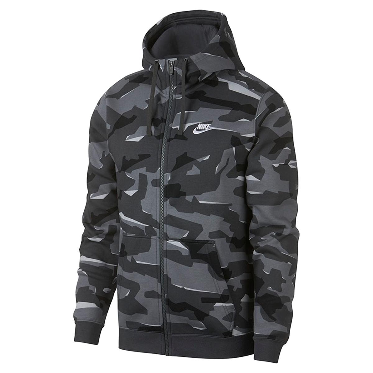 811da00f Nike m nsw club camo hoodie fz AJ2105-065- Nava Sport - Vi selger ...