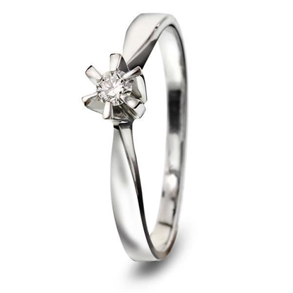 Diamantring gull Isabella med 0,05 ct W-Si-7111305