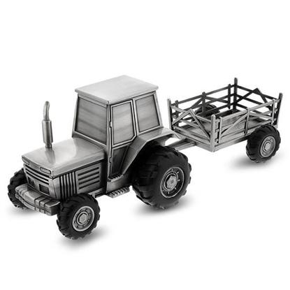 Sparebøsse, traktor med tilhenger - 87950