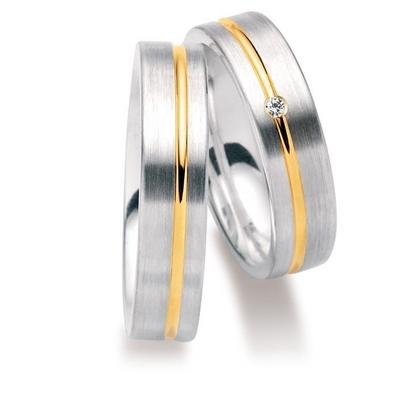 Gifteringer i sølv, 5,5 mm. GETTMANN - 831855