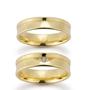 Gifteringer i gult gull 9 kt, 5.5 mm. GERSTNER - 128073