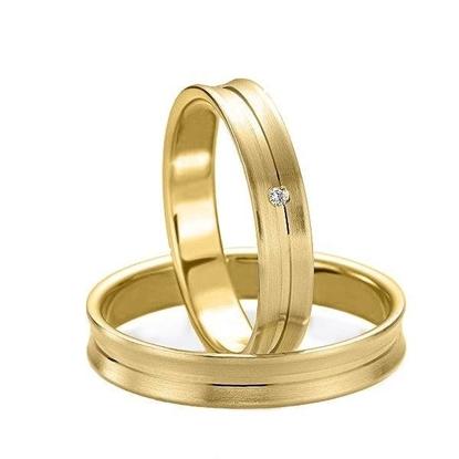 Gifteringer i gull 14 kt, 4 mm. Slim line - 4807129
