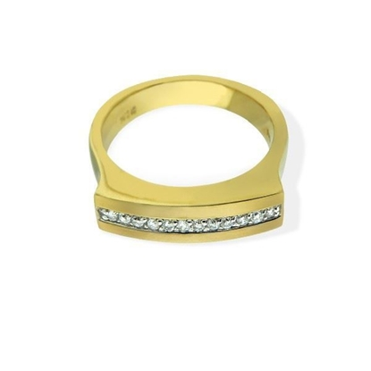 Diamantring i gult gull med 0,14 ct W-Si-6715