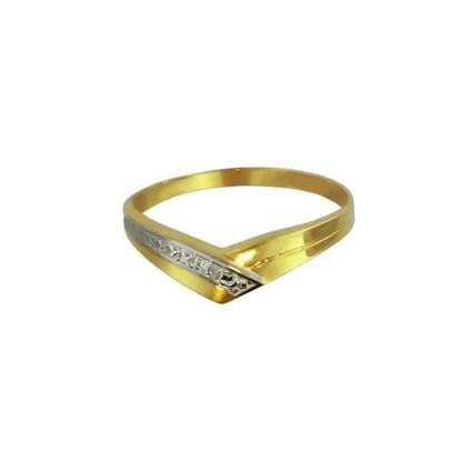 Diamantring i gult gull med 0,005 ct W-Si-125014