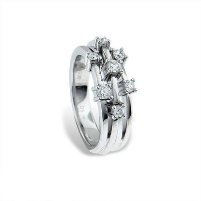 Diamantring i hvitt gull med 0,30 ct TW-VS-9990030