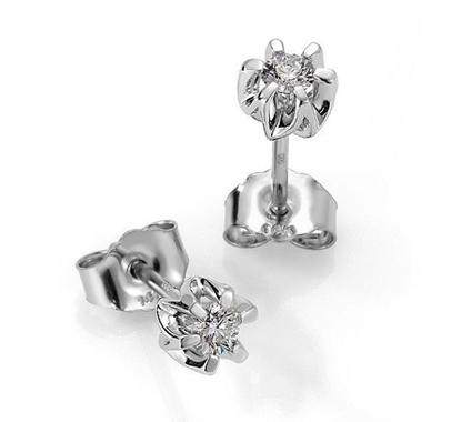 Sitara diamant øredobber med 2/0,15 ct W-Si-422115