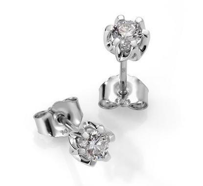 Sitara diamant øredobber med  2/0,40 ct W-Si-422140