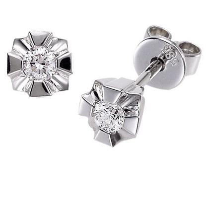 Evita diamant øredobber med  2/0,15 ct W-Si-50215