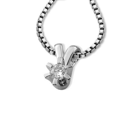 Diamantsmykke Sofia i gull med 0,08 ct W-Si-1120708